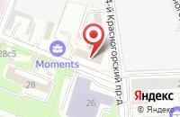 Схема проезда до компании Комплекттентсервис + в Москве