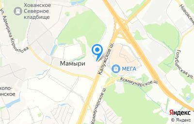 Местоположение на карте пункта техосмотра по адресу г Москва, км Калужское шоссе 21-й (п Мосрентген), д 6 стр 2