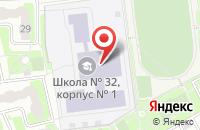 Схема проезда до компании Средняя общеобразовательная школа №32 в Подольске