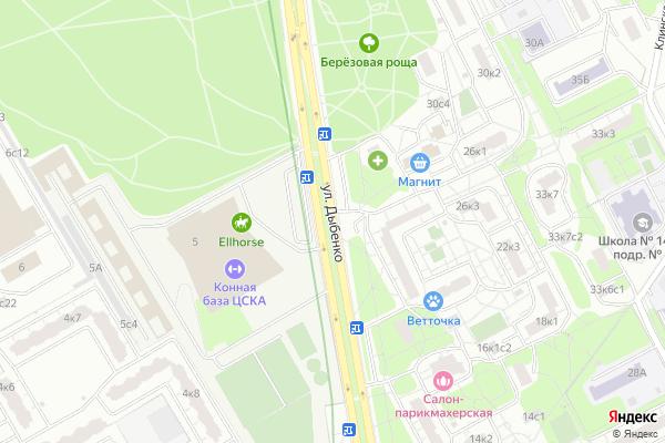 Ремонт телевизоров Улица Дыбенко на яндекс карте
