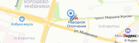 Автонайм на карте Москвы