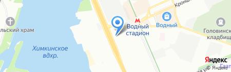 Луч света на карте Москвы