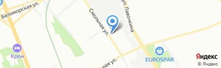 Система стройсервиса на карте Москвы