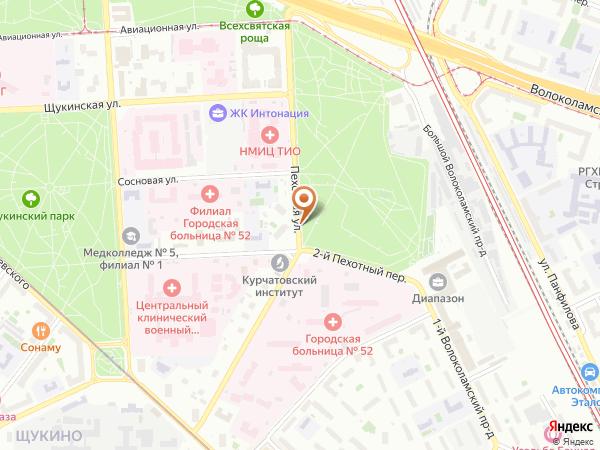 Остановка 52-я гор. б-ца в Москве