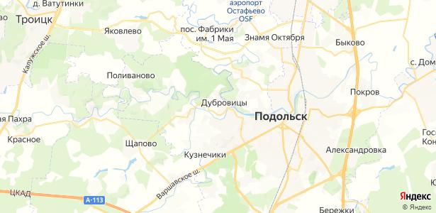 Дубровицы на карте