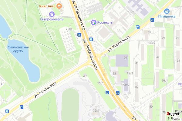 Ремонт телевизоров Улица Коштоянца на яндекс карте