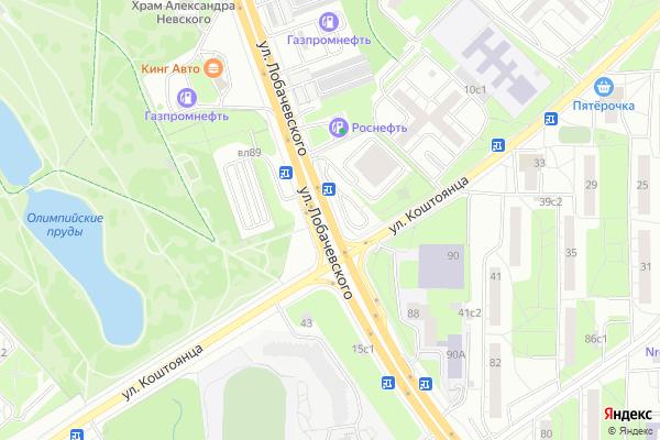 Ремонт телевизоров Улица Лобачевского на яндекс карте