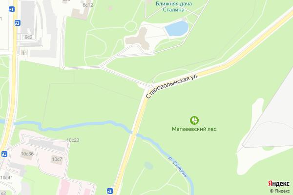 Ремонт телевизоров Улица Староволынская на яндекс карте