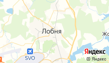 Гостиницы города Лобня на карте