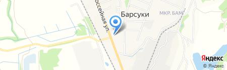 Киоск по продаже хлебобулочных изделий на карте Барсуков