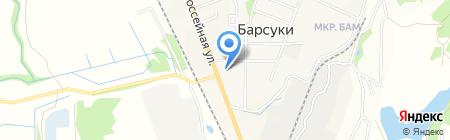 Киоск по продаже овощей и фруктов на карте Барсуков