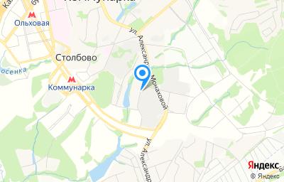Местоположение на карте пункта техосмотра по адресу г Москва, Сосенское п, п Коммунарка, ул Александры Монаховой, влд 40 стр 1