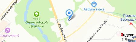 Астра лайн на карте Москвы