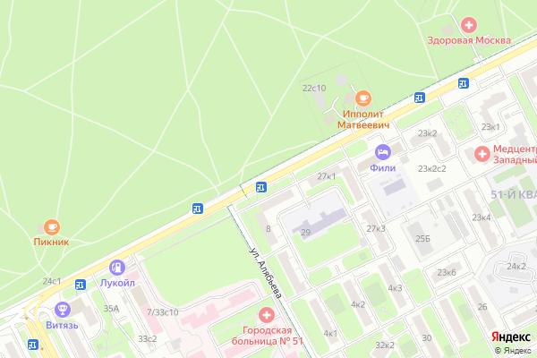Ремонт телевизоров Улица Большая Филевская на яндекс карте