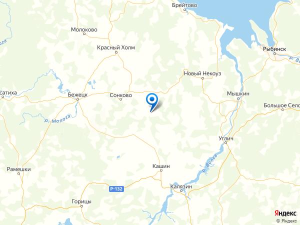 деревня Михали на карте