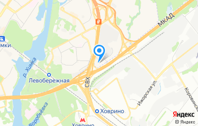Местоположение на карте пункта техосмотра по адресу Московская обл, г Химки, мкр Левобережный, км МКАД 78-й, влд 2