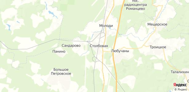 Столбовая на карте