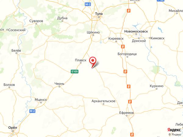 деревня Большая Красавка на карте