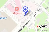 Схема проезда до компании МЕДИЦИНСКИЙ ЦЕНТР МЕДИКЛУБ в Москве