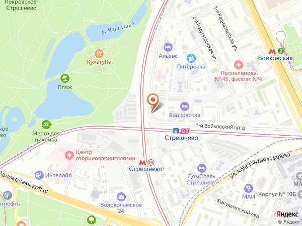 Остановка «Ст. Стрешнево», 5-й Войковский проезд (1008782) (Москва)