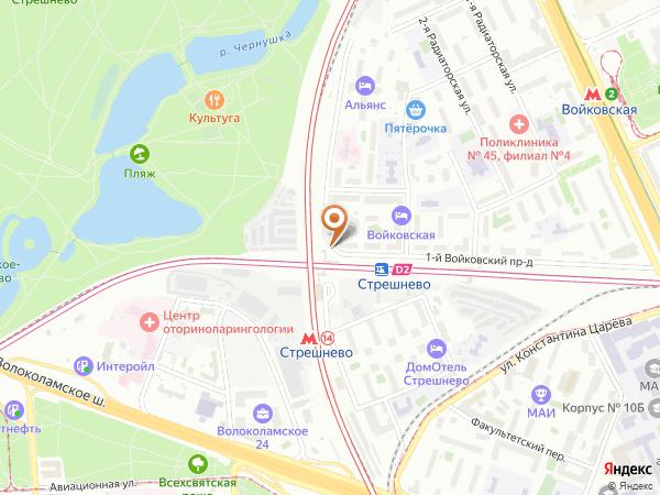 Остановка «Ст. Стрешнево», 1-й Войковский проезд (1008783) (Москва)