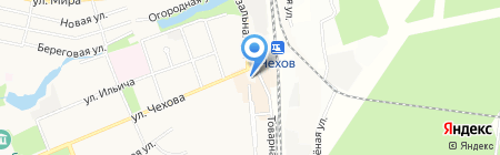 Магазин дисков на ул. Чехова на карте Чехова