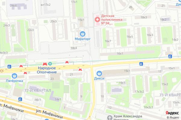 Ремонт телевизоров Улица Демьяна Бедного на яндекс карте