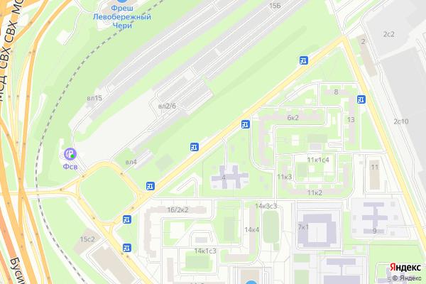 Ремонт телевизоров Улица Краснополянская на яндекс карте