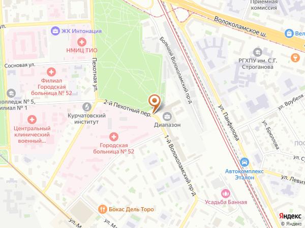 Остановка 2-й Пехотный пер. в Москве