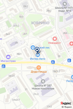 МАГАЗИН АВТОЗАПЧАСТИ на карте Москвы
