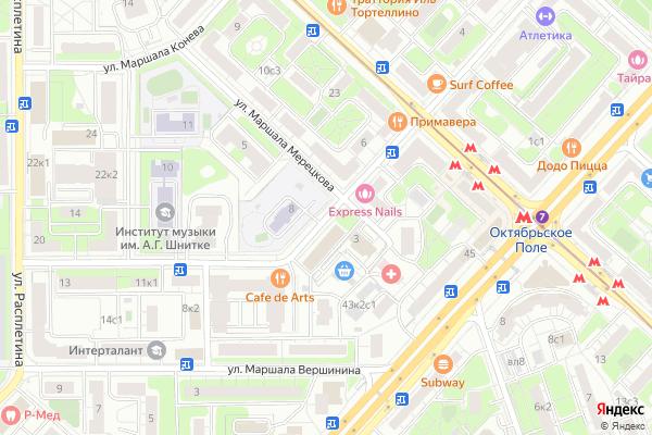 Ремонт телевизоров Улица Маршала Соколовского на яндекс карте