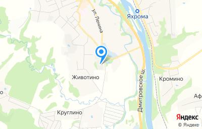 Местоположение на карте пункта техосмотра по адресу Московская обл, г Дмитров, г Яхрома, пер Шлюзовой, д 1