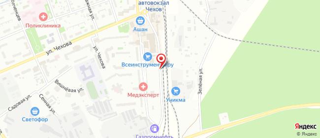 Карта расположения пункта доставки СИТИЛИНК в городе Чехов