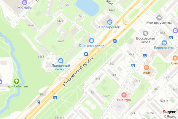 Ремонт телевизоров Мичуринский проспект на яндекс карте
