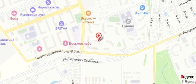Карта расположения пункта доставки Пункт выдачи в городе Москва