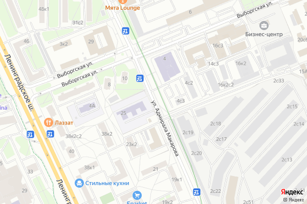 Ремонт телевизоров Улица Адмирала Макарова на яндекс карте