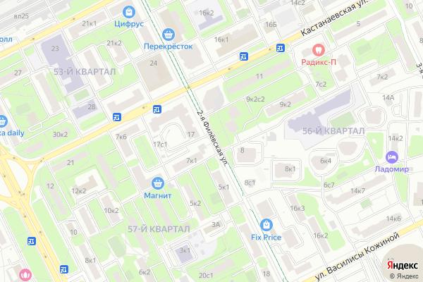 Ремонт телевизоров Улица 2 я Филевская на яндекс карте