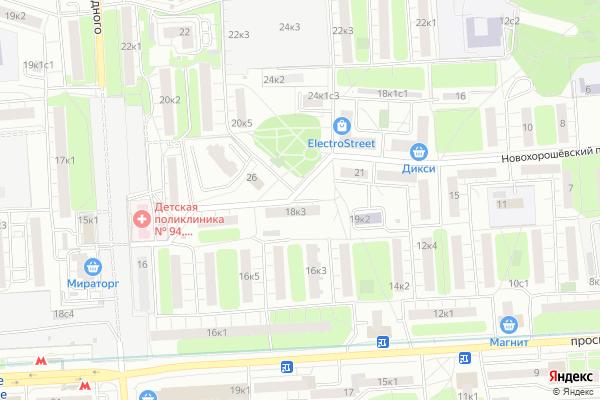 Ремонт телевизоров Район Хорошво Мневники на яндекс карте
