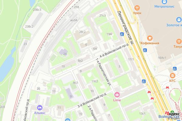 Ремонт телевизоров 4 й Войковский проезд на яндекс карте