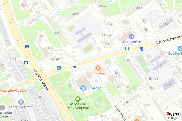 Ремонт телевизоров Улица Фестивальная на яндекс карте