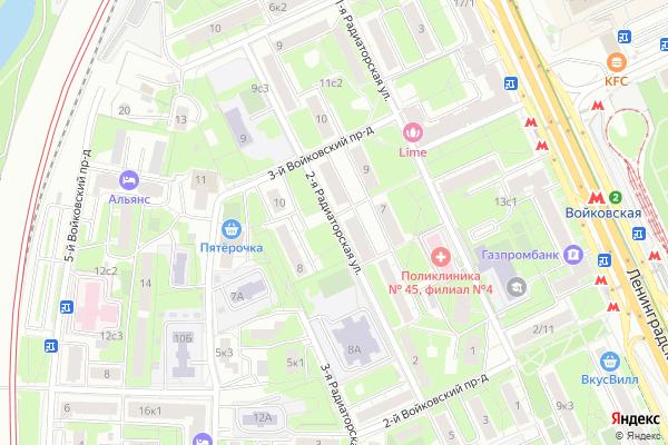 Ремонт телевизоров Улица 2 я Радиаторская на яндекс карте