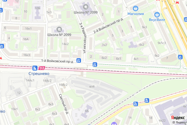 Ремонт телевизоров 1 й Войковский проезд на яндекс карте