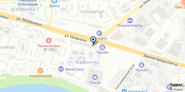 Магнит на карте Москве