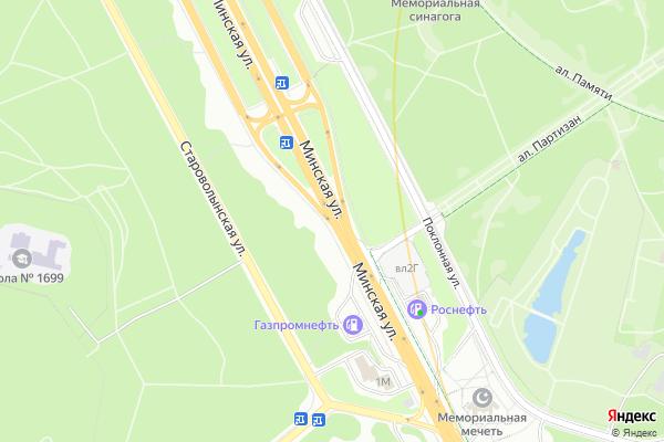 Ремонт телевизоров Улица Минская на яндекс карте