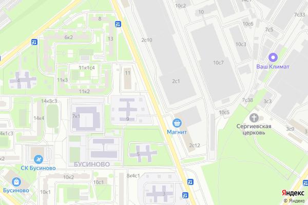 Ремонт телевизоров Улица Бусиновская Горка на яндекс карте