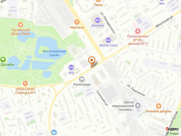 Остановка Смольная ул. в Москве