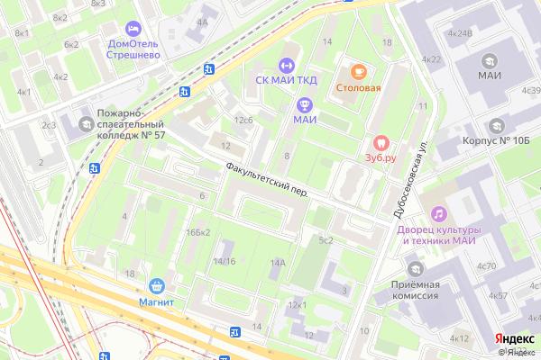 Ремонт телевизоров Факультетский переулок на яндекс карте