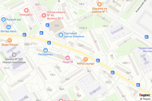 Ремонт телевизоров Улица Петрозаводская на яндекс карте