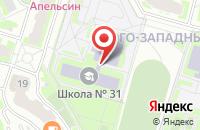 Схема проезда до компании Средняя общеобразовательная школа №31 в Подольске