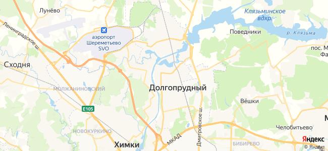 Долгопрудный - объекты на карте